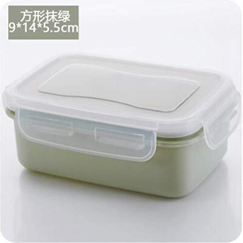 EMOHKCAB Mini-lunchbox Ronde vierkante plastic koelkast Verzegelde groentelade Sorteercontainer Lunchbox, G206905A
