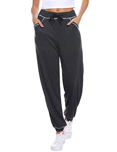 iClosam Pantaloni Tuta Donna in Cotone Pantaloni Sportiv Donna Jogging Fitness Yoga Pantalone Sweatpants Lounge