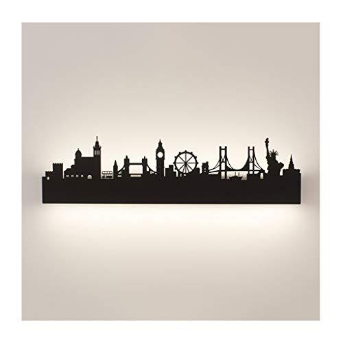 Wall Light Creatieve wandlamp - Nordic Art van het ijzeren wandlamp, LED, grootte van massief hout, wit, zwart, studio, hal, woonkamer, kinderkamer, slaapkamer