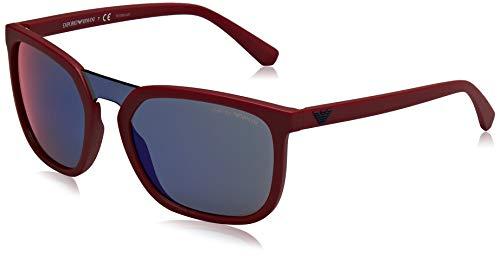 Emporio Armani 0EA4123 Gafas de sol, Matte Red, 45 para Hombre