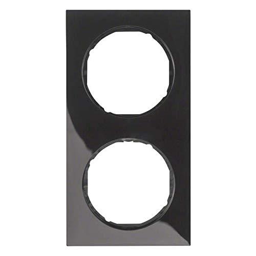 Hager r.3 frame R3 2 elementen zwart glanzend