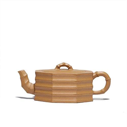 Reparto de barro del hierro electrónico del multímetro de lluvia de arena mineral amarillo bambú Segmento Segmento octágono a mano la calidad del té portátil: Presente (color amarillo) la decoración d