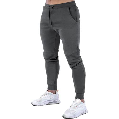 Huntrly Pantalones Casuales para Hombre Primavera y otoo Pantalones Sencillos con cordn Cintura elstica Pantalones Casuales Ajustados Pantalones Deportivos de Moda para Fitness M