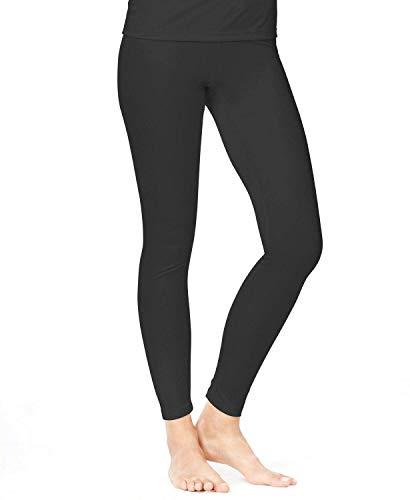 Cuddl Duds Climatesmart Women's Leggings (Small 6/8) Black