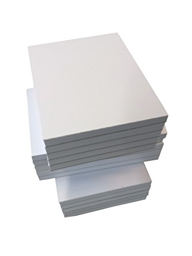 10x Mini Notizblocks blanko 50 Blatt, 67mm x 90mm, Qualitäts-Offset-Papier 80g/m² (22413)