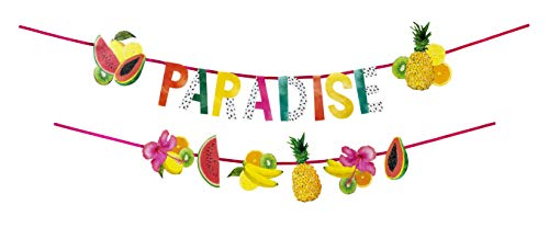 Talking Tables FST6-Garland FRUIT Tropical Fiesta Paradise Fruit Layered, Double Garland Pack, papier meerkleurig