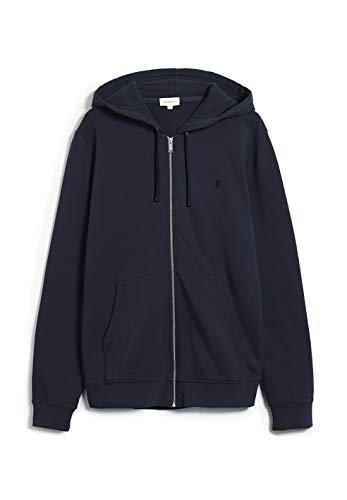 ARMEDANGELS ZAAC - Herren Sweatjacke aus Bio-Baumwolle XL Depth Navy Sweat Jacke Regular fit