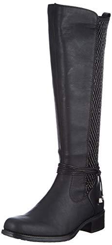 Rieker Damen Z7362 Kniehohe Stiefel, schwarz, 40 EU