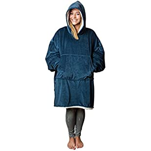The Comfy The Blanket... That's a Sweatshirt, One Size Fits Most, Soft Snuggly and Comfortable Blanket Sweatshirt Originally Featured on Shark Tank, Blue Color:Shizuku7148
