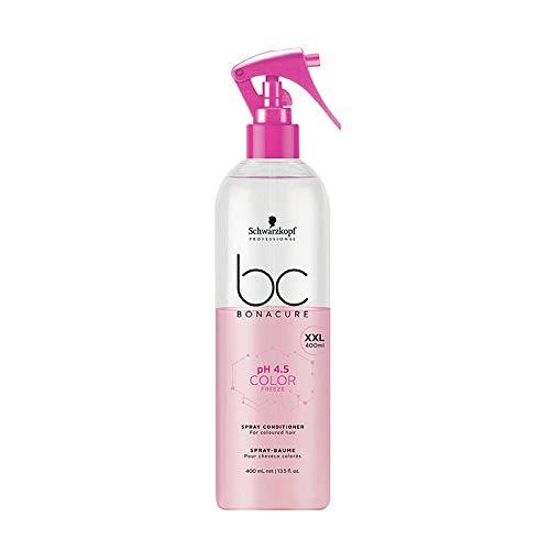 Schwarzkopf BonaCure PH 4,5 Color Freeze Spray Baume Apres Shampooing Cheveux Colores 400 ml