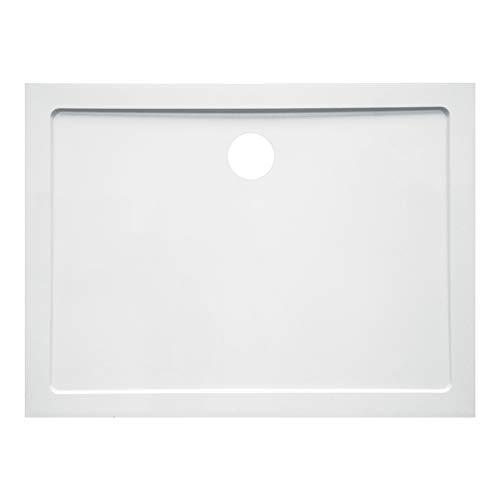 Plato de ducha 80 x 120 cm de cerámica blanca – Cód. AXA80 x 120