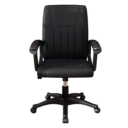 WSDSX Sedie per Il Tempo Libero Sedia da Ufficio Sedia Girevole esecutiva Sedia da Computer con Base in Nylon Altezza Regolabile 35-45 cm Funzione di inclinazione Resistente e Durevole