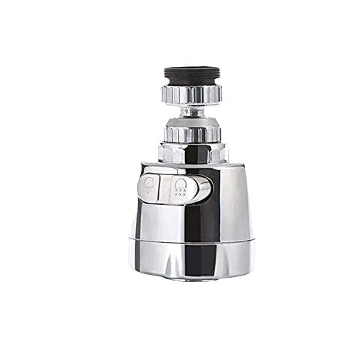 Aireador de grifo de cocina giratorio de 360 grados, difusor de filtro de rociador de modo dual ajustable, conector de grifo de boquilla de ahorro de agua