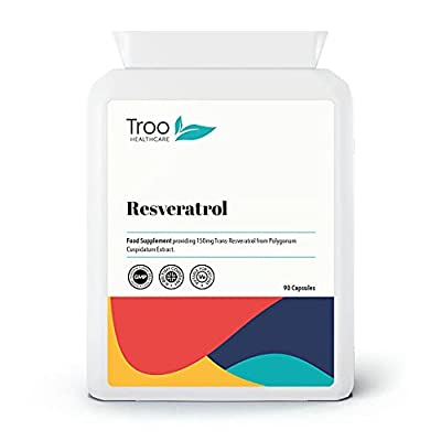 Trans Resveratrol Supplement 150mg - 90 Easy Swallow Daily Capsules - Providing Trans-Resveratrol from Polygonum Cuspidatum Extract- UK Manufactured to GMP code of practice