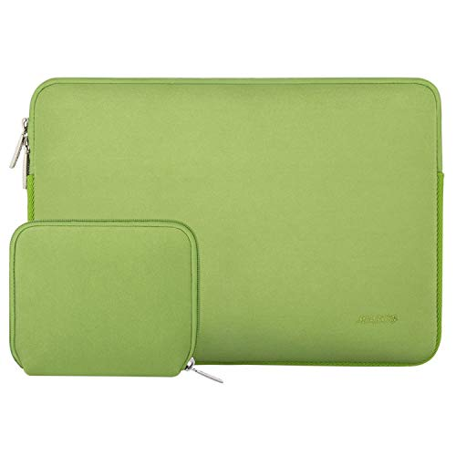 MOSISO Laptop Sleeve Compatible with 13-13.3 inch MacBook Pro, MacBook Air, Notebook Computer, Water Repellent Neoprene Bag with Small Case, Greenery