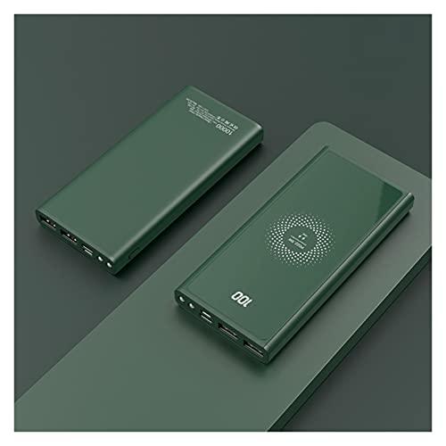20000mAh Power Bank Pd22.5w Carga rápida USB Tipo C Cargador de batería extrenal portátil 15W Cargador inalámbrico Power Bank (Battery Capacity : 20000mAh, Color : Green Power Bank)