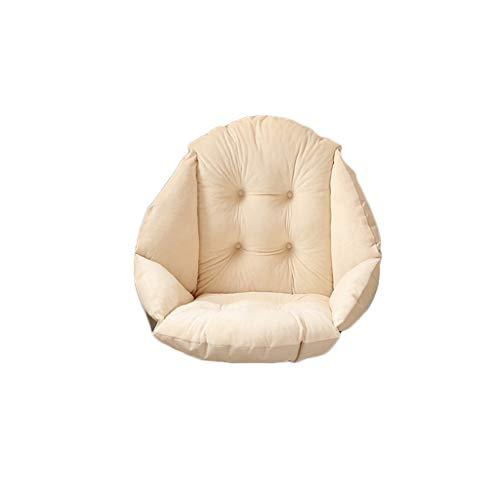 Yue668 – Cojín de asiento de una sola pieza de terciopelo de cristal, cojín de silla semicerrado con un asiento, cojín de oficina Warm Comfort Sea, color azul celeste 40x48 cm