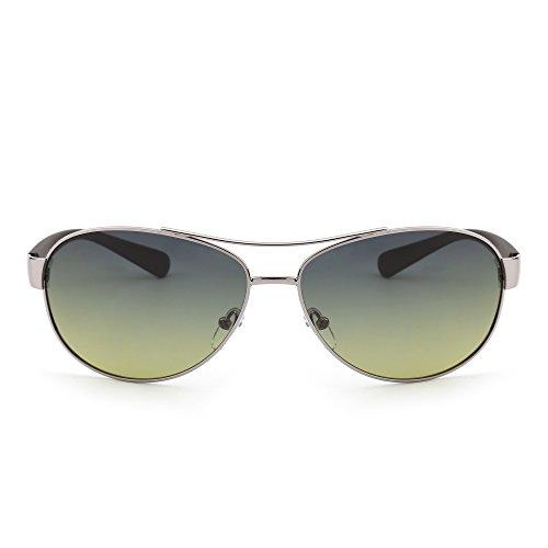 JIM HALO Gafas de Sol Polarizadas Aviador Lentes de Gradiente Templo Mate Hombre Mujer Azul Amarillo