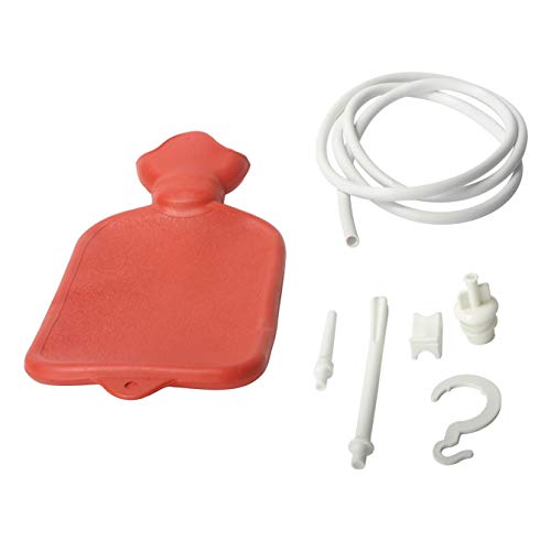 Water Bottle Enema Bag and Douche with 3 Piece Silicone Tip Kit