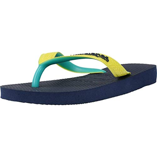 Havaianas Top Mix, Chanclas Unisex Adulto, Multicolor (Navy/Neon Yellow), 41/42 EU
