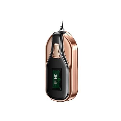 Indossabile purificatore d'aria personale collana purificatore d'aria con 2 modalità 1000MAh 45-75H, ionizzatore d'aria generatore ioni negativi con display LCD da 0,9in, elimina fumo, odori polvere