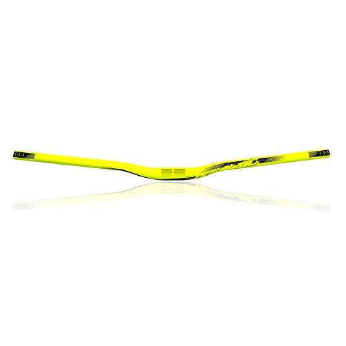 AZONIC | Manubrio bici | MTB Downhill Freeride Mountainbike BMX | Alluminio 6061 T6 a doppio spessore, 31,8mm, Peso: 390g | Agile Handlebar Rise | Giallo Neon