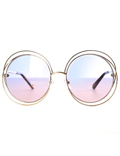 Chloè Ce114sd Gafas de sol, Gold/Havana/Grad Azure Ro, 58 para Mujer