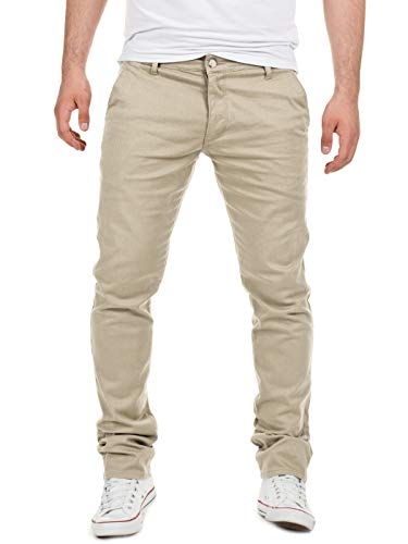 Yazubi Herren Chino Hose, Modell Dustin, Chinohose by Yzb Jeans, Beige (Plaza Taupe 161105), W34/L32