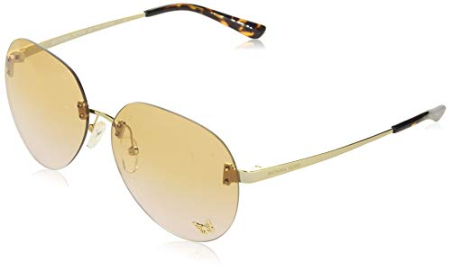 Michael Kors Damen 0MK1037 Sonnenbrille, Schwarz (Lt Gold), 60