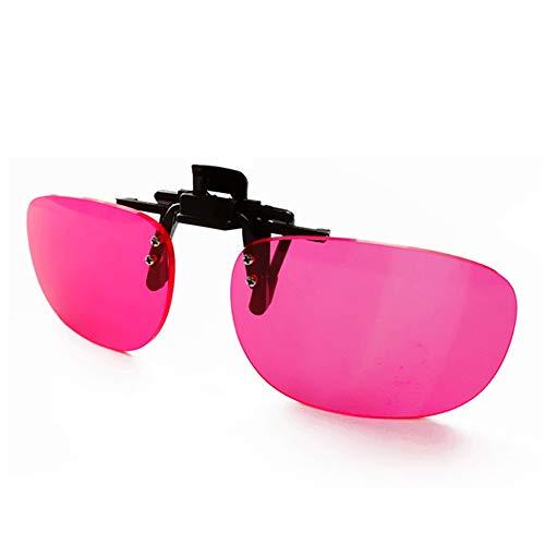 ZUEN Vasos Daltónicos Clip De Las Mujeres Y Los Hombres Correctivas Gafas De Sol Gafas De Daltónicos Clip Color Ciego Vidrios del Conductor De Clip