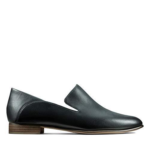 Clarks Damen Pure Viola Mokassin, Schwarz (Black Leather), 42 EU