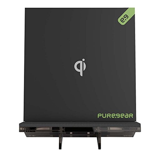 PureGear Wireless Charging Pad Stand, Adjustable Removeable Stand, Universal Charger for Qi Enabled Devices, Qi Certified with LED Indicator