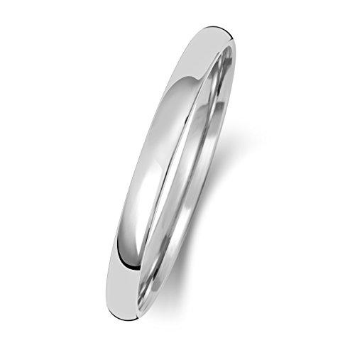 9 Karat (375) Weißgold 2mm Slight Court Form Herren/Damen - Trauring/Ehering/Hochzeitsring WJS150919KW