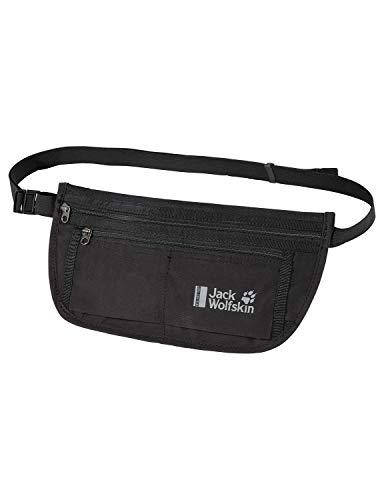 Jack Wolfskin Unisex– Erwachsene Document Belt RFID Hüfttasche, Black, One Size