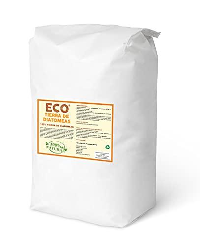 ECO Tierra de Diatomeas® Molida 25kg - 100% Natural y Ecológico - Grado alimenticio E551c. No calcinada, sin aditivos.