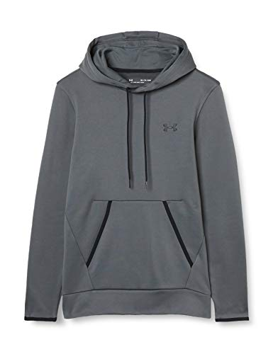 Under Armour Armour Fleece HD Sudadera cálida, Hombre, Gris/Negro (012), Extra-Small