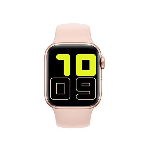 GZA Smart Watch Hombres Mujeres Monitor De Presión Arterial Monitor Táctil Inteligente Smart Reloj SmartWatch Relojes para Apple Android Phone PK IWO 13 (Color : Pink)