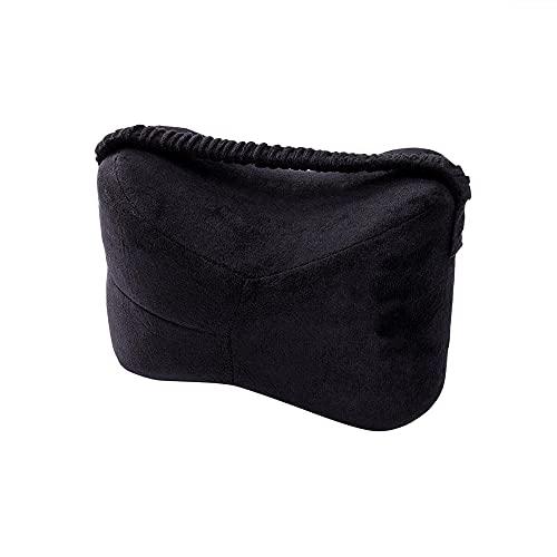 Zhaog Protector de rodilla de espuma viscoelástica para piernas, colchón, ortopédico, reafirmante, protector de piernas, cojín calmante para dormir, color negro