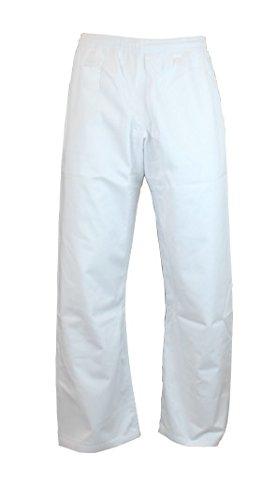 S.B.J - Sportland Baumwollhose/Kampfsporthose/Judohose/Karatehose weiß, 180 cm