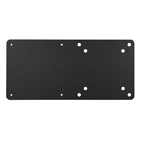 RICOO Fernseher TV Monitor-Halterung Adapter Bildschirm-Ständer Montage Befestigung (F0211) Thin-Client Intel NUC Mini PC Computer Fernsehhalterung VESA 100x100, Schwarz