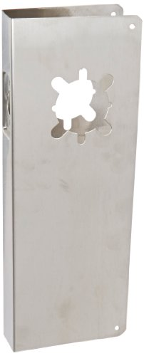 Don-Jo 514-CW 22 Gauge Stainless Steel Mortise Lock Wrap-Around Plate 5 Width x 12 Height for 86 Cut-Out Satin Stainless Steel Finish