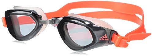 adidas Persistar Fit Unmirrored Swimming Goggles, Smoke Lenses/App Solar Red/App Solar Red, Small