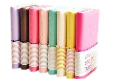 Yixinlifeas Koreanisch schreibwaren leder notebook tragbare tagebuch notebook süß süßigkeiten farbe lächeln buch farbe zufällig medium 75 * 125mm
