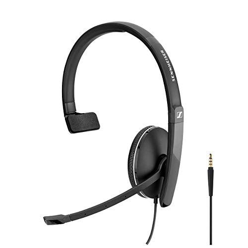 Sennheiser SC 135 (508318) – einseitiges (monaural) Headset für Geschäftsprofis | mit HD-Stereo-Sound, Noise-Canceling-Mikrofon (schwarz)