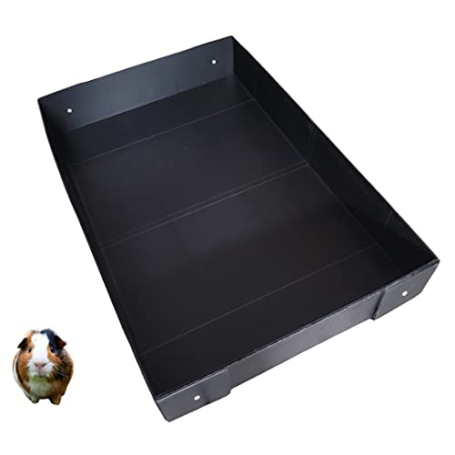 Corrugated Plastic Cage Liner Base for Guinea Pig C&C Cage - for use with 13.8' Grids ONLY! NOT Measured by Feet- Used with Grid Cages for Guinea Pigs, Hedgehogs, and Rabbits (2x3, Black)