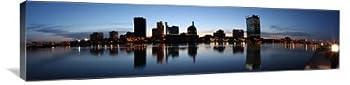 Skyline of Toledo Ohio 60  x 15  Gallery Wrapped Canvas Wall Art