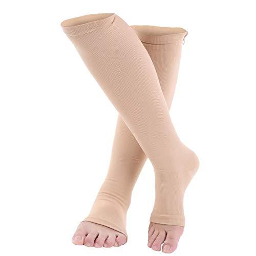 Voluxe Calcetines de compresión cómodos, elásticos, Transpirables, duraderos, 5 tamaños, Calcetines de Soporte para Las Rodillas, para(Color, L/XL)