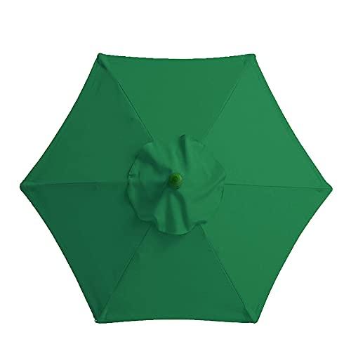 Sonnenschirm im Freien Wasserabweisende Bespannung, Sonnenschirmtuch für Garten, Terrasse oder Balkon (Grün)