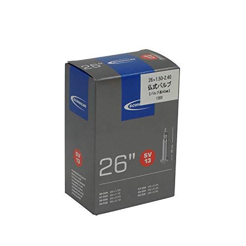 Schwalbe Fahrradschlauch SV13 40/62-559 EK 40 mm Schlauch, schwarz, SV (40mm)/26''
