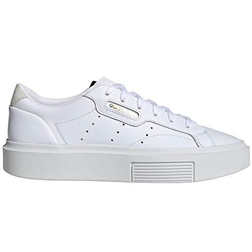 adidas Sleek Weiß und Pink. Schuhe Damen Sneakers (40 EU, Cloud White-Platform)